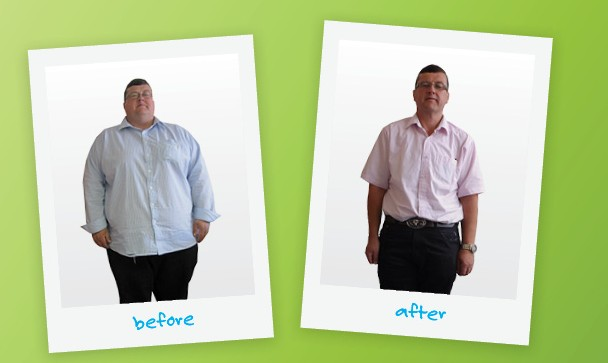 Declan Leonard before and after weight loss comparison