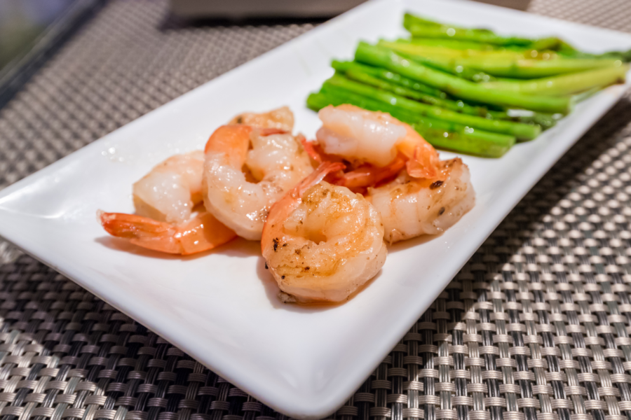 Prawns with Chickpeas and Seasoned Asparagus Blog Post Cover