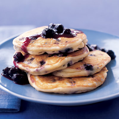 Healthy Blueberry Pancakes Recipe
