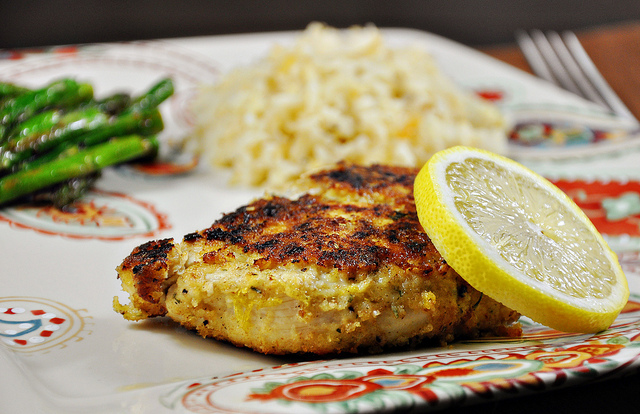 low calorie lemon and garlic chicken