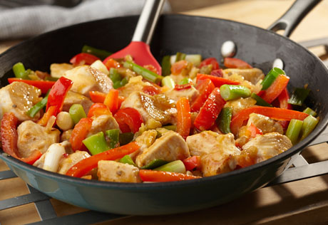 Chicken and Mixed Pepper Stir Fry