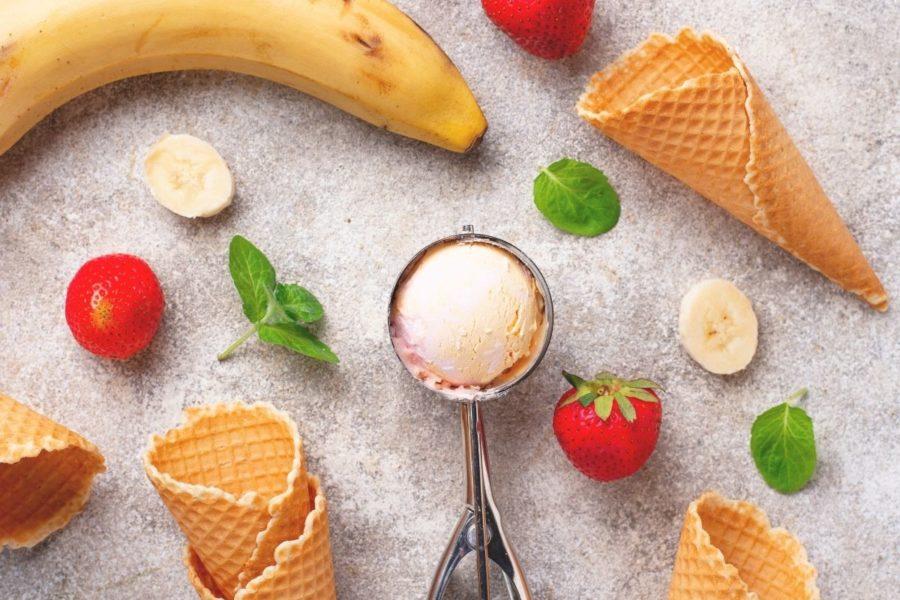 Strawberry and Banana Dairy Free Ice Cream
