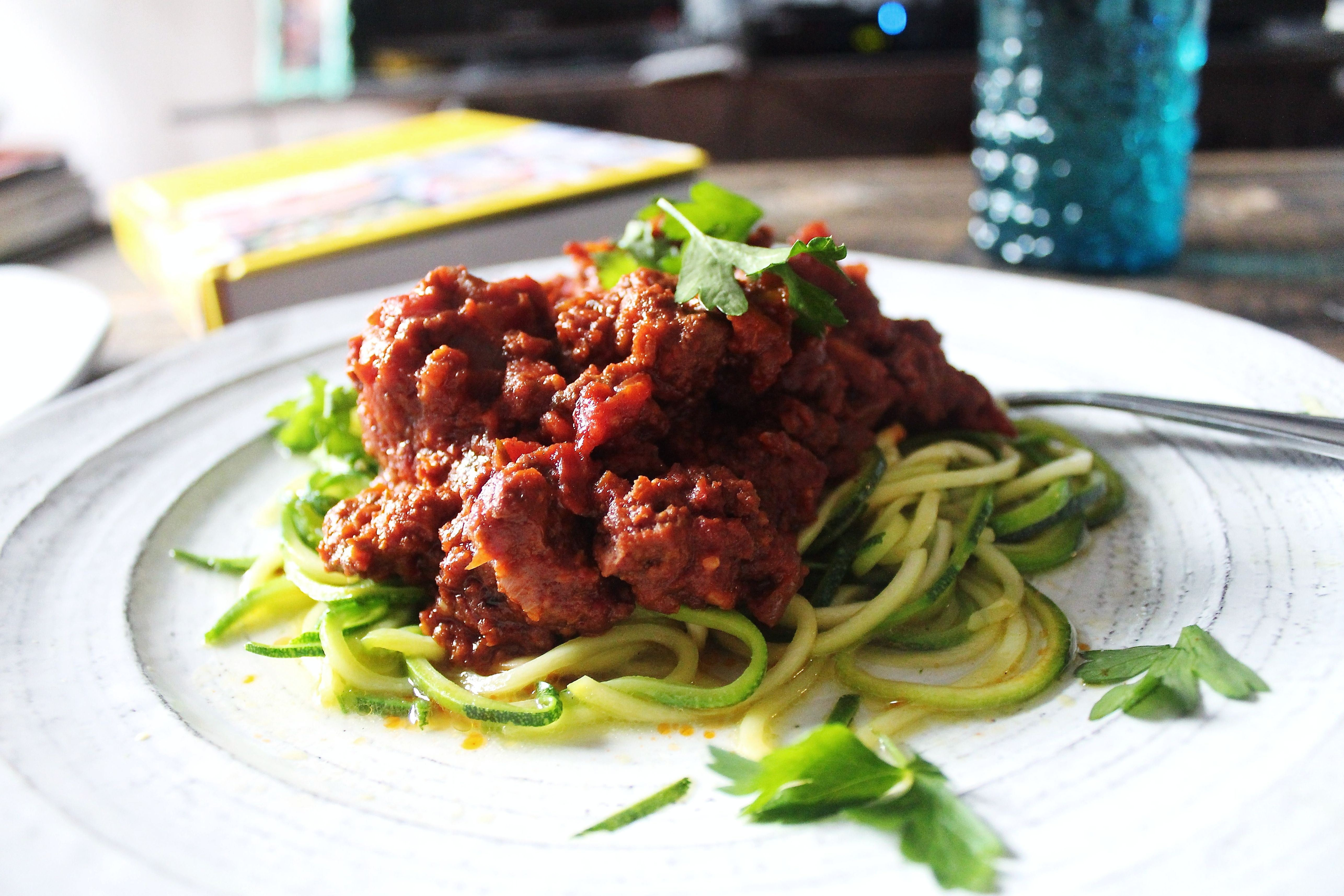 For Fast Weight Loss Make the Switch - Courgetti Bolognese