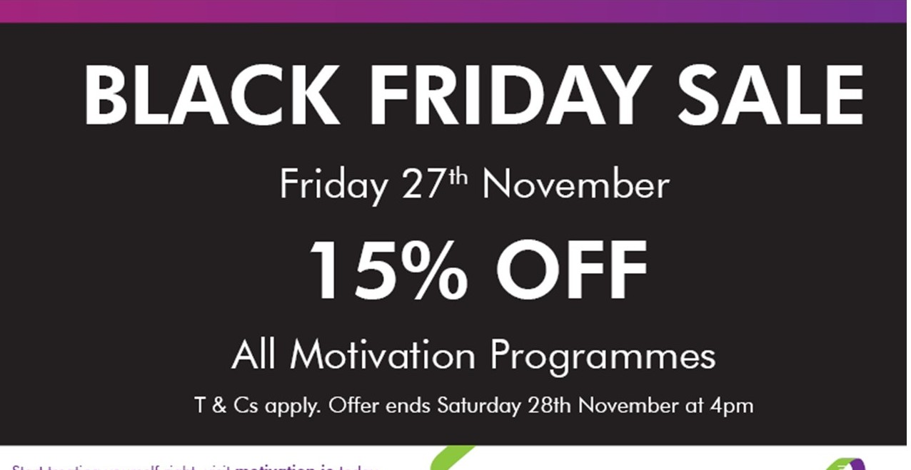 Black Friday Discount to Lose Excess Pounds