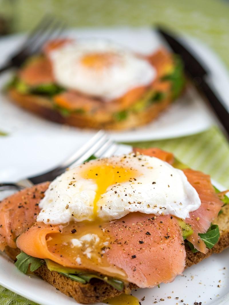 Smoked Salmon with Poached egg