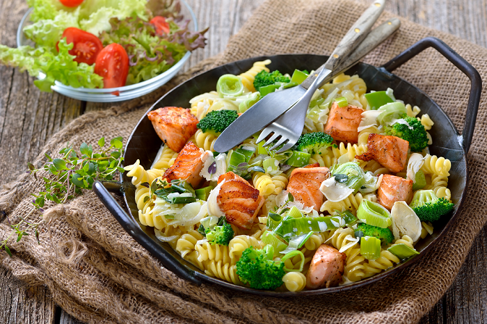 Salmon and Broccoli Pasta