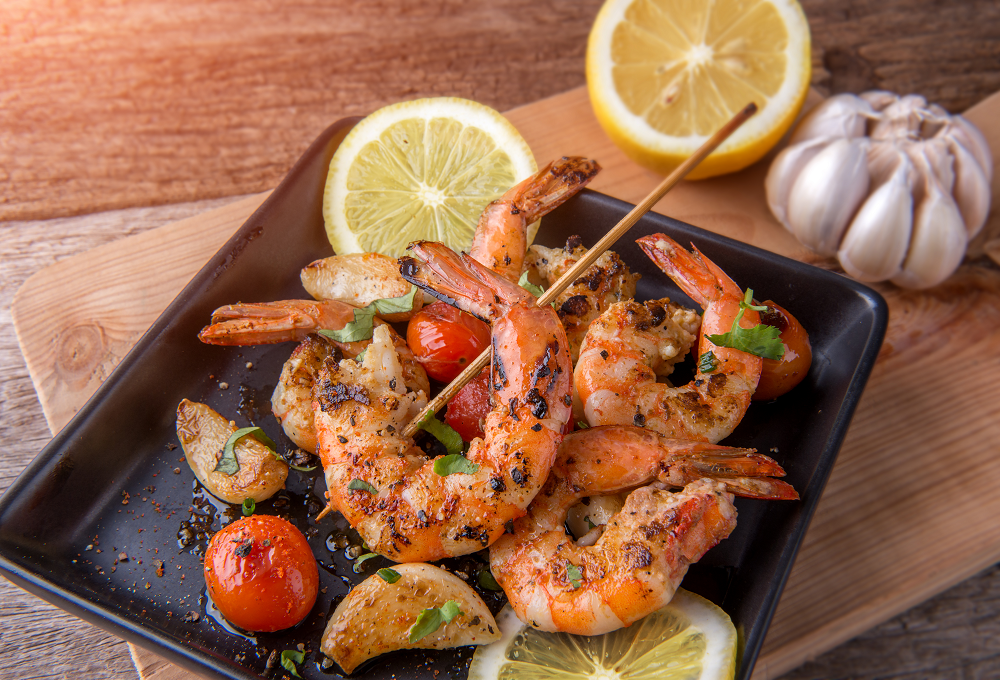 Lemon and Basil BBQ Prawn Kebabs