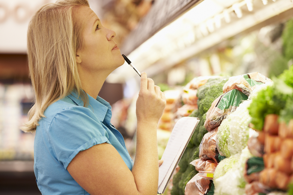 How To Succeed at Weight Loss with a Weekly Shopping List