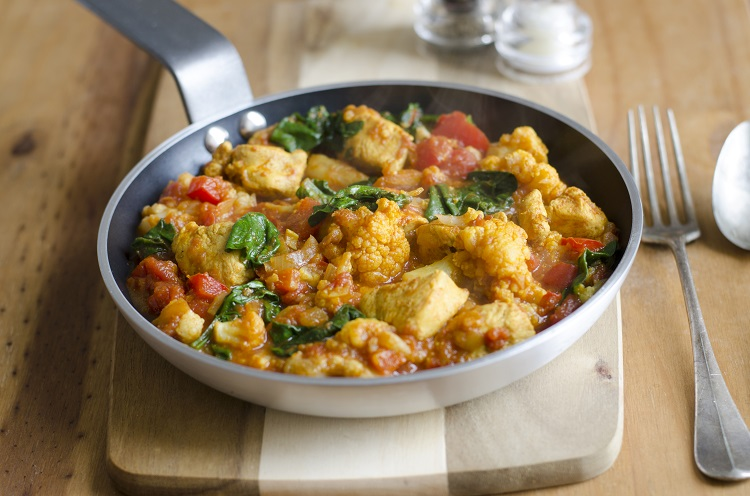 Curried Chicken And Cauliflower Bake