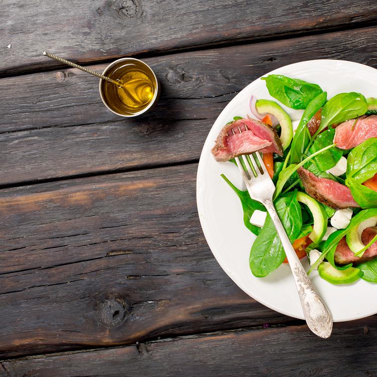 Steak and Aubergine Salad